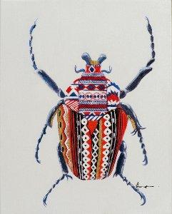 Little colorful beetle