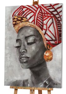 Beauty with red turban
