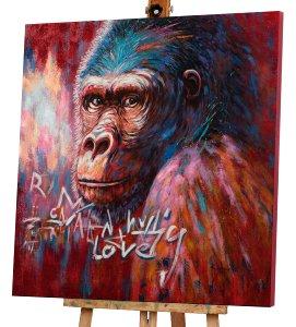 Gorilla in pink and red