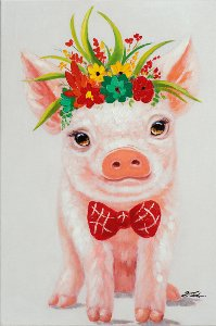Piggy with flowers