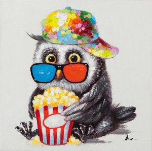 Birdie with popcorn