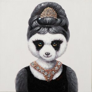Girl panda with jewels