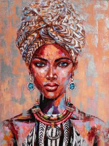 African beauty with turban