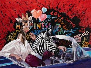 Giraffe and Zebra on tour