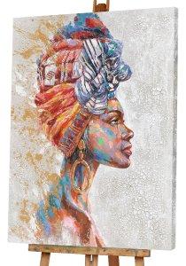 Beauté avec turban multicolore I