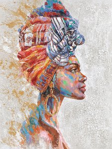 Beauty with colourful turban I