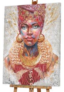 Beauté avec turban multicolore II