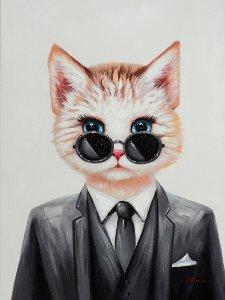 Kitten in a suit