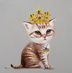 Kitten with crown
