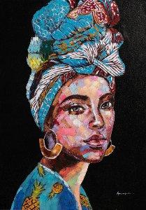 Beauté au turban bleu II