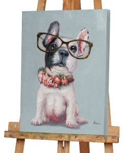 Little dog with glasses