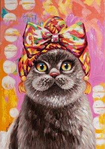 Chat avec turban