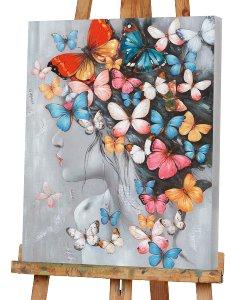 Schönheit mit Schmetterlingsperücke
