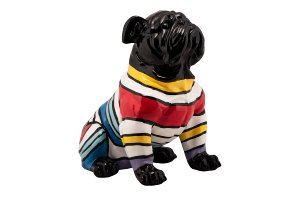 Seated Bulldog with Pullover