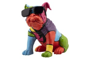Colorful Bulldog with Sunglasses