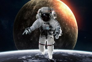Astronaut an the moon