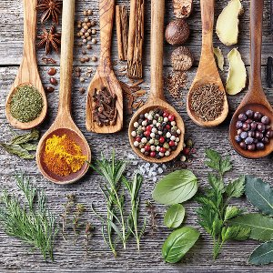 Wooden spoons with spices II
