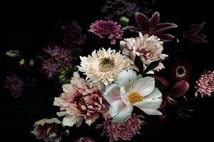 Blüten in purpurrot I