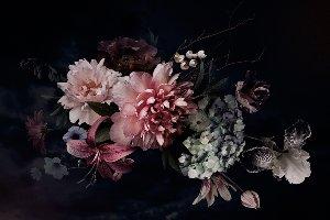 Blüten in purpurrot II