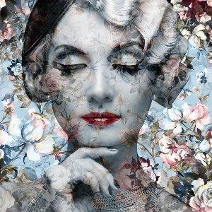 Pastellblüten mit 20er Jahre Dame
