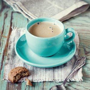 Tasse de café turquoise