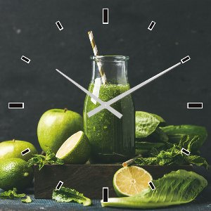 Wall clock green smoothie
