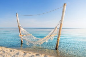 Hammock in the sea