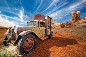 Old truck in the desert