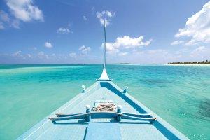 Boot in der Karibik