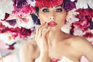 Beauty in a sea of flowers