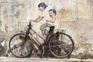 Street Art with bicycle