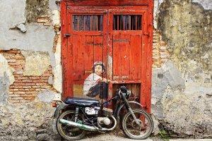 Street Art mit Moped