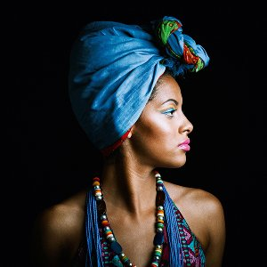 Beauty with blue turban