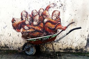 Street Art with Orang-Utans