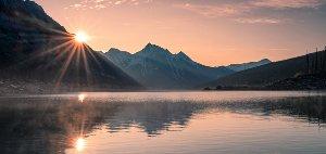 Träumerisches Bergpanorama