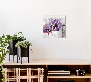 Mini lila Blume