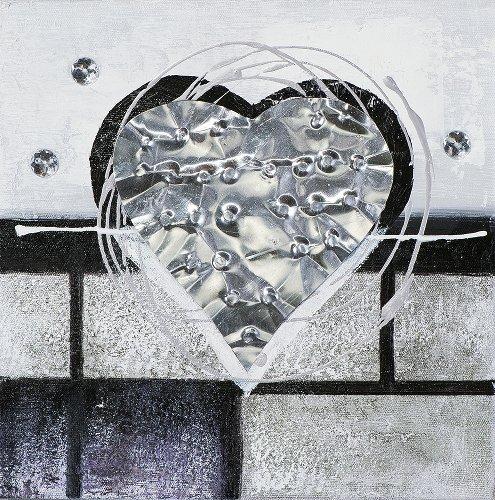 Mini Herzen in schwarz und weiß