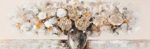 Abstarkter Blumenstrauß mit gold