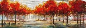 Herbstliche Landschaft mit silber