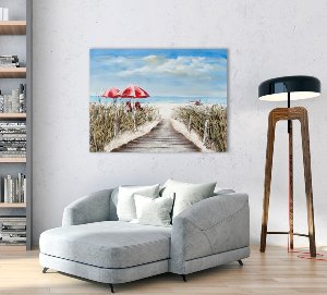 Holzbrücke zum Strand