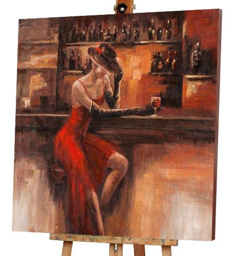 Dame an der Bar