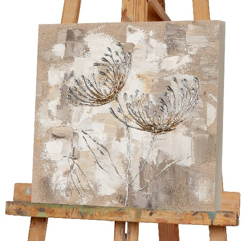 Chrysanthemen in silber