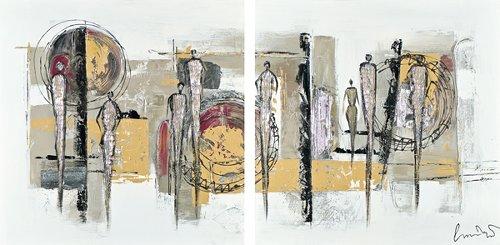 Acryl Gemälde 75 X 150 cm