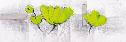 Acrylic painting 40 x 120 cm