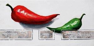 Peinture acrylique 30 x 60 cm