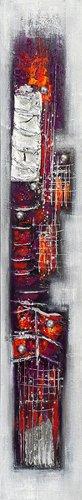 Acrylic painting 25 x 150 cm