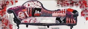 Acrylic painting 50 X 150 cm